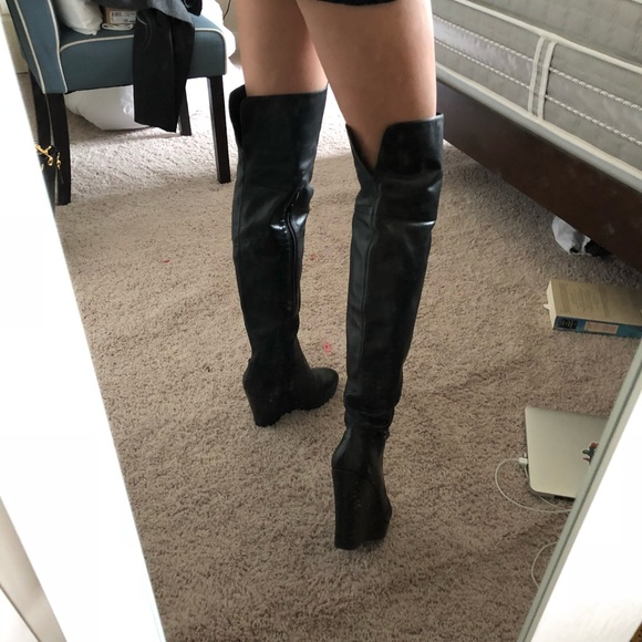 Over The Knee Wedge Boots Cheap